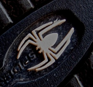 A spider bit my foot and then I found this logo on the bottom of my shoe...What did it all imply? I had to go inward to figure it out... - Photo by Jan Ketchel