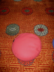 A cushion on the floor may be all it takes to establish sacred space... - Photo by Jan Ketchel