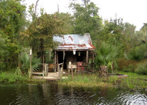 Like a monk in a cell, a hermit in isolation, I bear the tension that will lead to resolution… Trapper's hut in the Manchac Swamp, La Place, Louisiana -Photo by Jan Ketchel