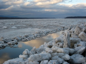 For this day, flow like the river, allow the true self to forge a channel to new life… -Photo of the icy Hudson River by Jan Ketchel