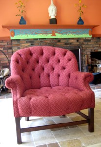My channeling chair... - Photo by Jan Ketchel