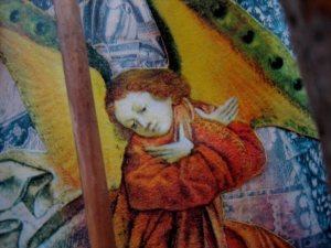 Pure prayer is powerful... - Detail from a collage by Jan Ketchel