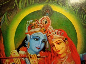 Our Wise One is always in  balance... - Detail of cover painting from KRSNA: The Supreme Personality of Godhead