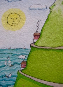 Sailing along together on the great ocean... - Art by Jan Ketchel