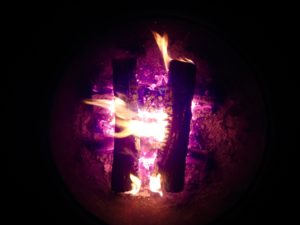 Squaring with the divine within the fires of the self... - Photo by Jan Ketchel